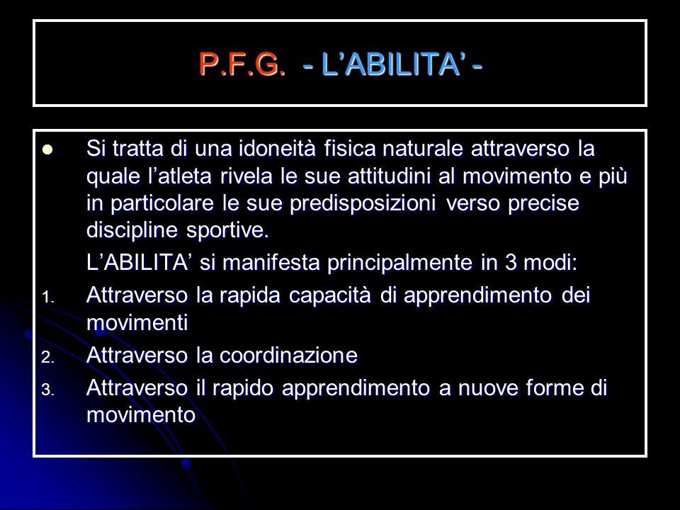 P.F.G. - L'ABILITA' -