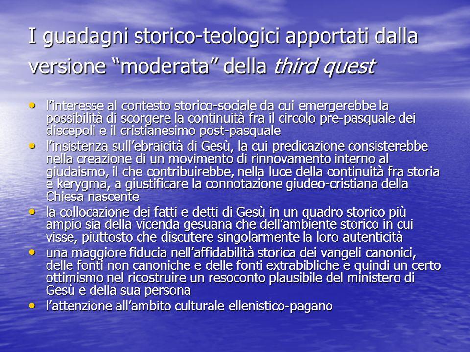 I guadagni storico-teologici apportati dalla versione moderata della third quest