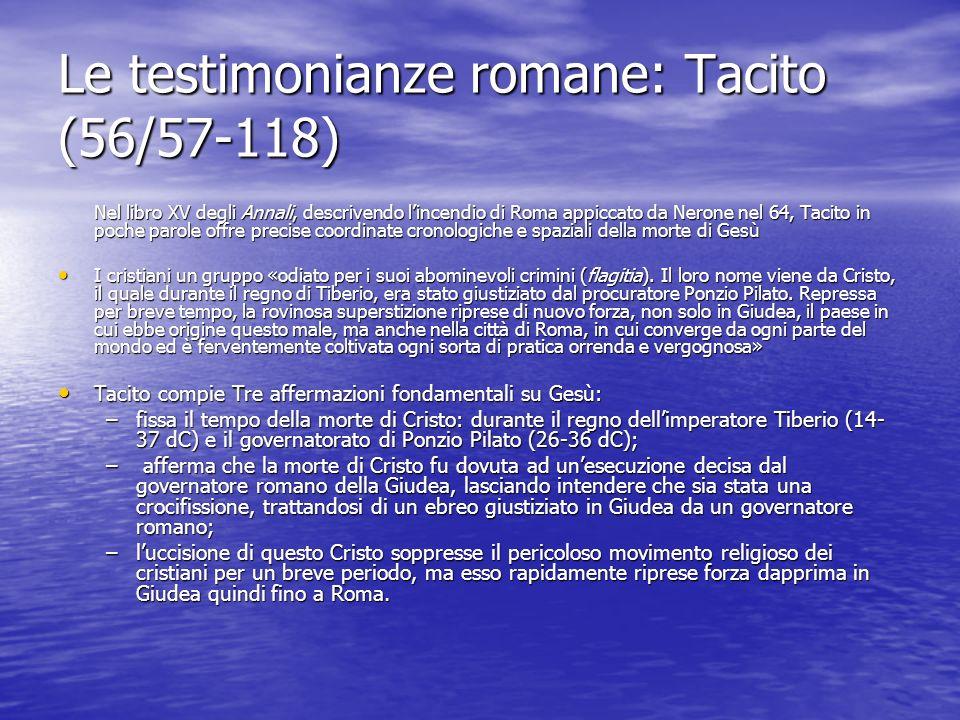 Le testimonianze romane: Tacito (56/57-118)