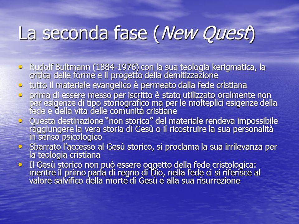 La seconda fase (New Quest)