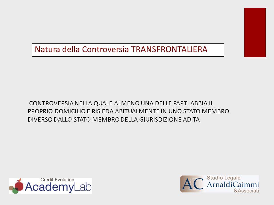 Natura della Controversia TRANSFRONTALIERA