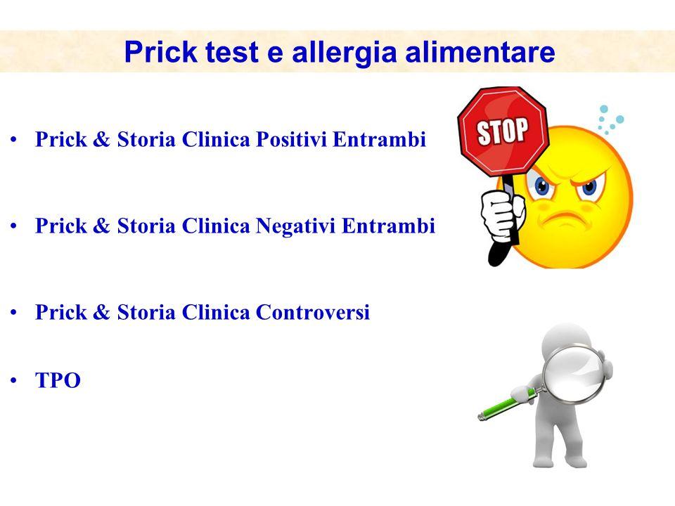 Prick test e allergia alimentare
