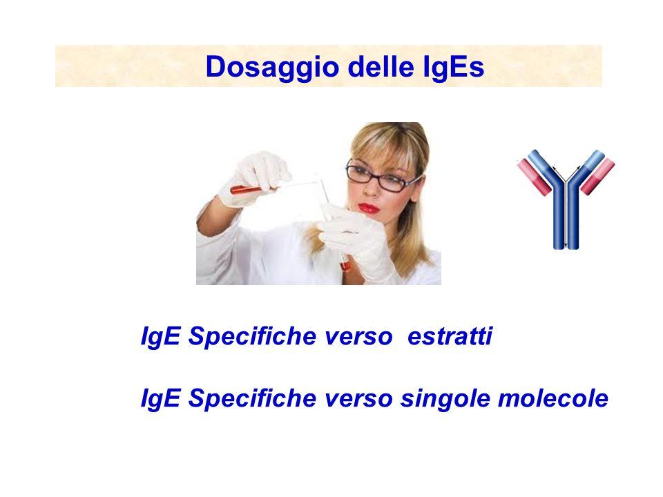 Dosaggio delle IgEs IgE Specifiche verso estratti