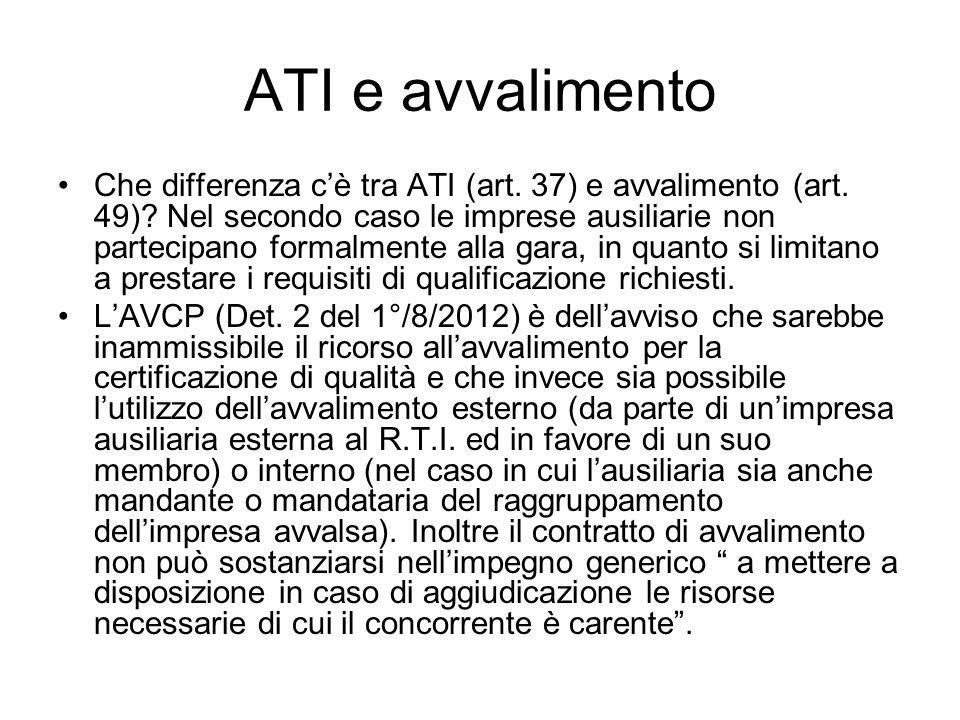 ATI e avvalimento