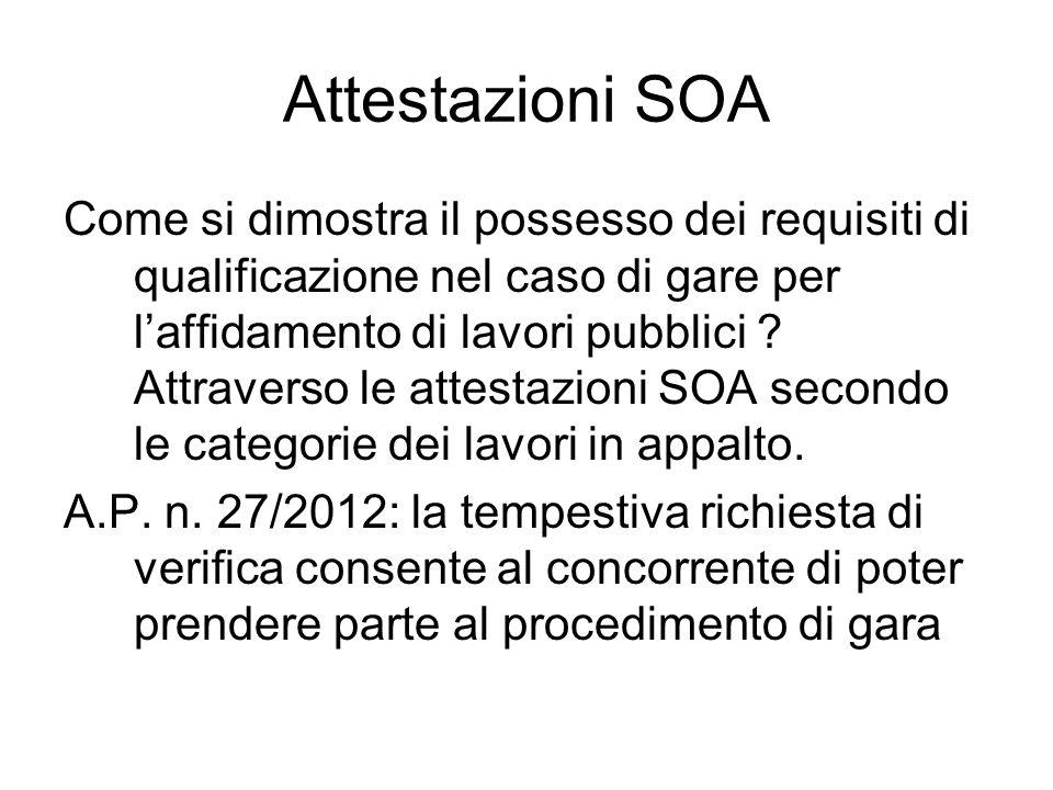 Attestazioni SOA