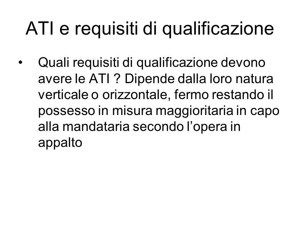 ATI e requisiti di qualificazione