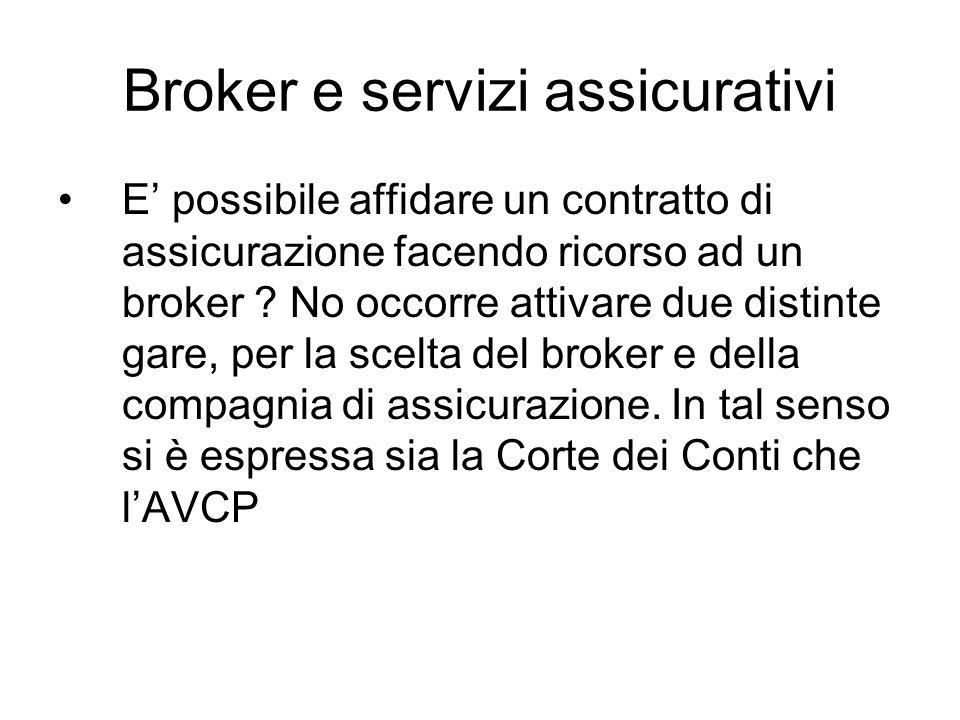 Broker e servizi assicurativi