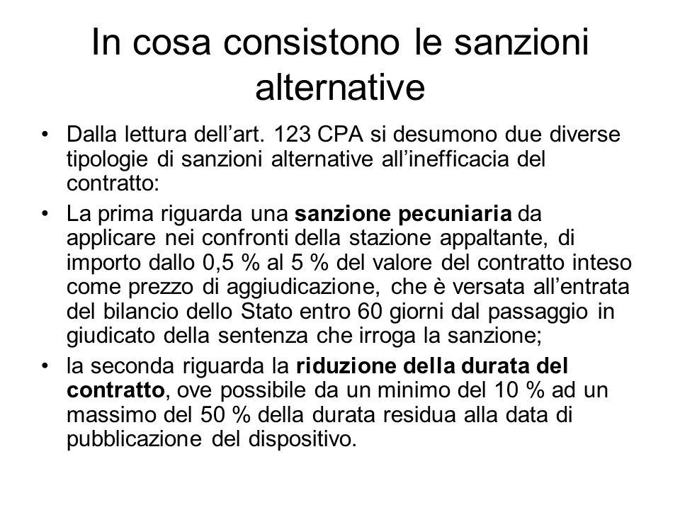 In cosa consistono le sanzioni alternative