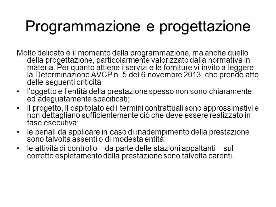 Programmazione e progettazione