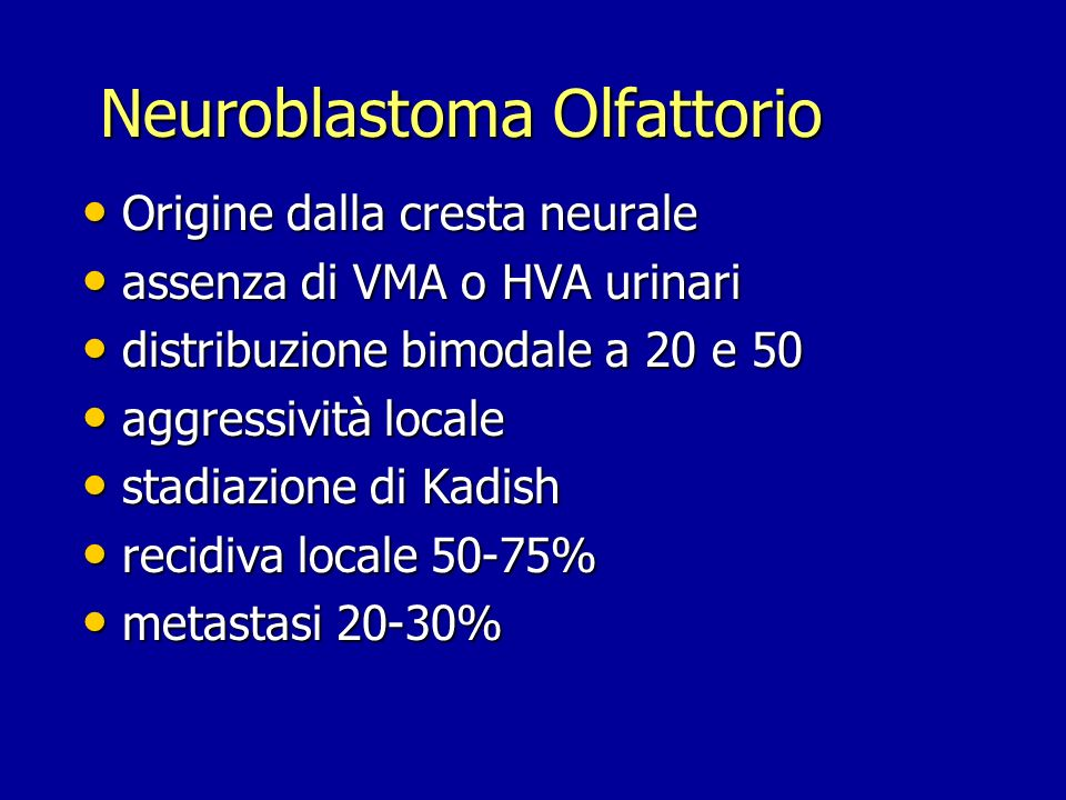 Neuroblastoma Olfattorio
