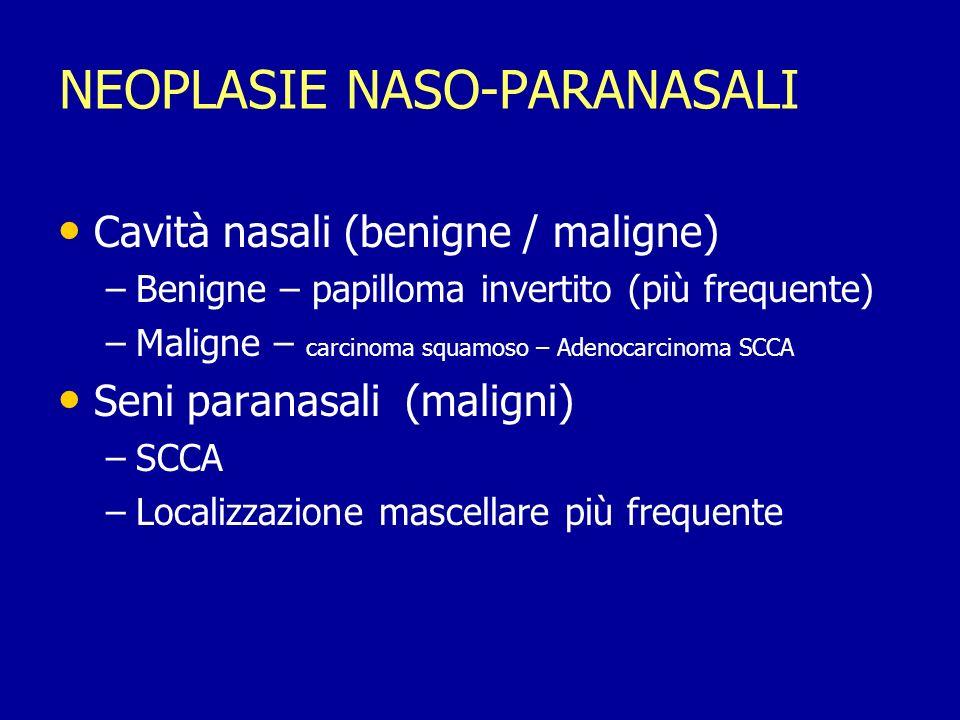 NEOPLASIE NASO-PARANASALI