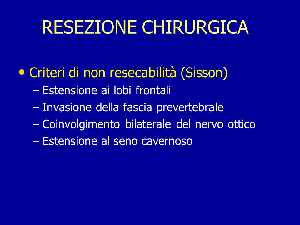 RESEZIONE CHIRURGICA Criteri di non resecabilità (Sisson)