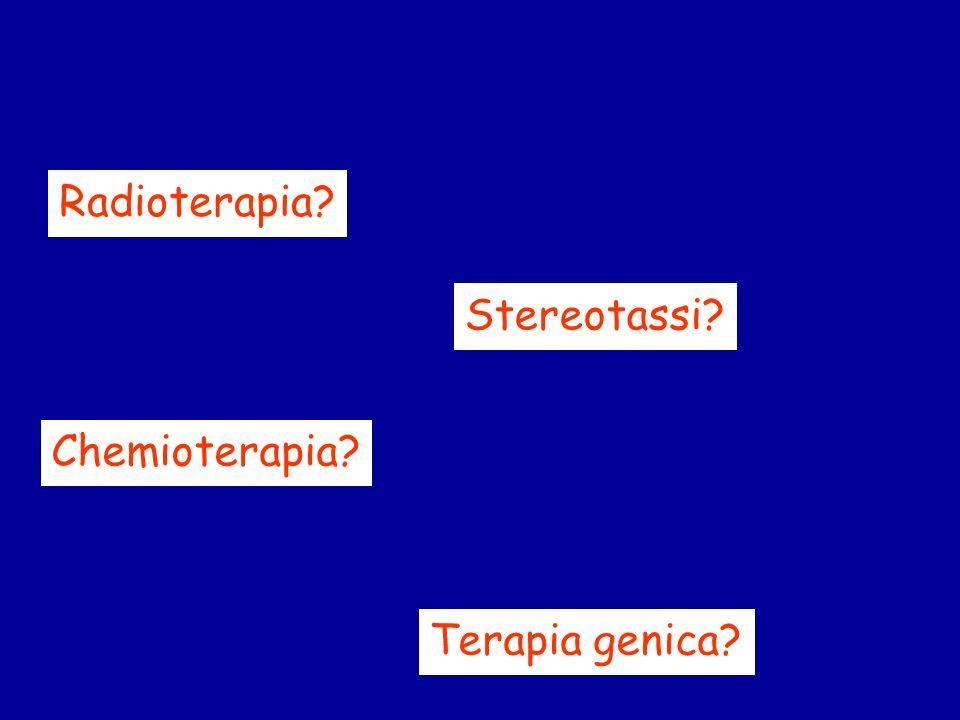 Radioterapia Stereotassi Chemioterapia Terapia genica