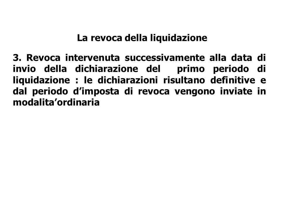 La revoca della liquidazione