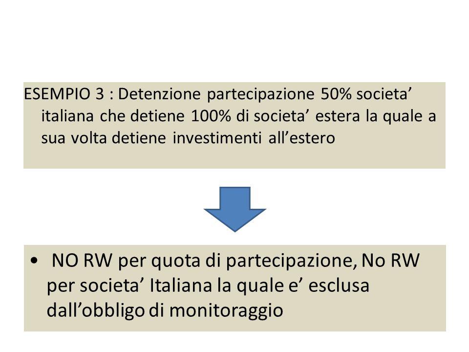 Esempio 3 : partecipazione 50% societa' italiana