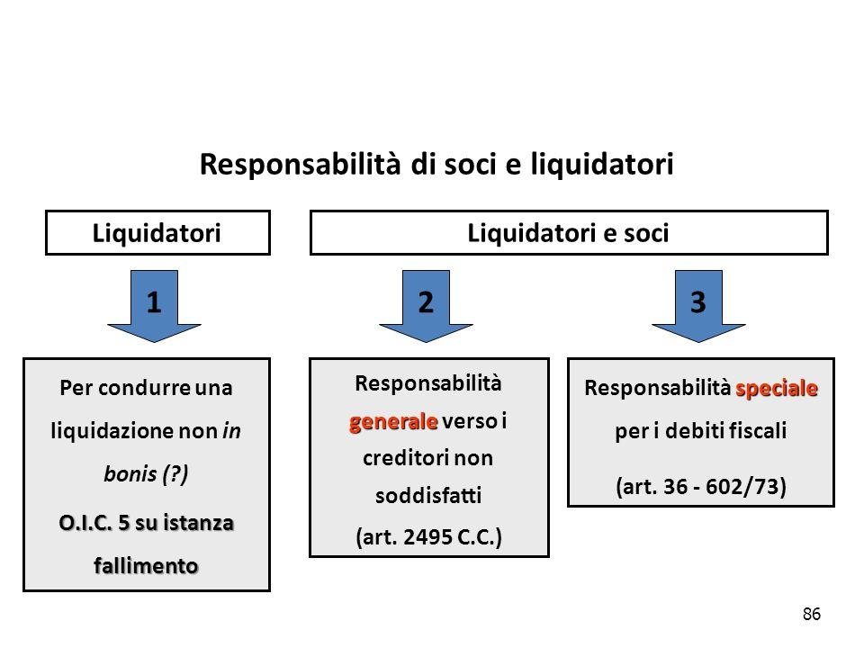 Responsabilità di soci e liquidatori 1 2 3