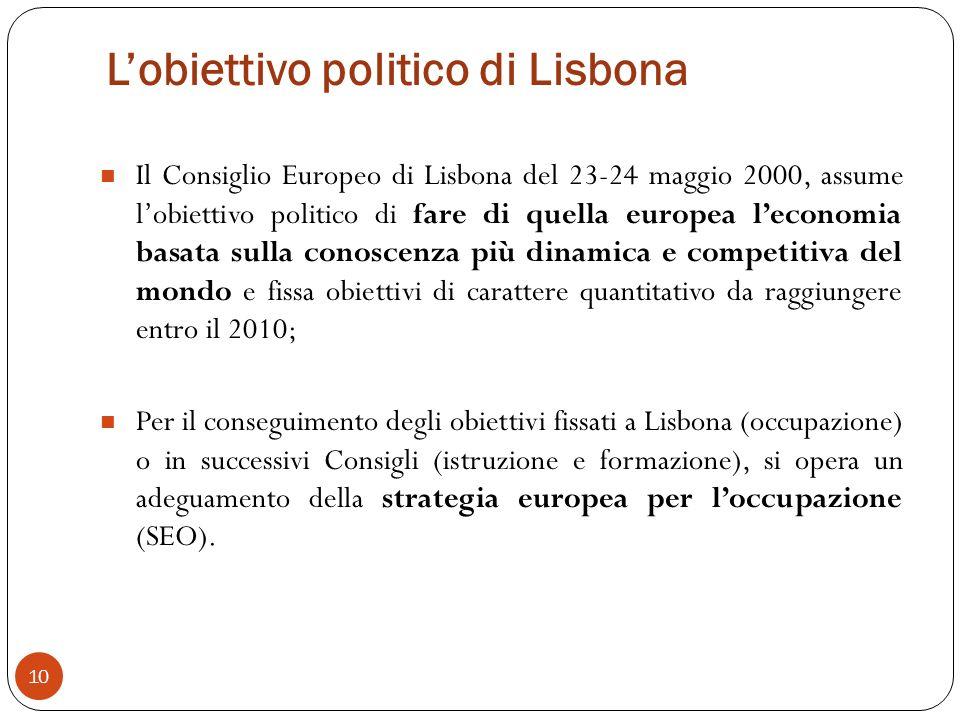 L'obiettivo politico di Lisbona