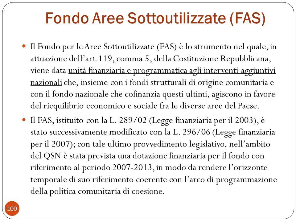Fondo Aree Sottoutilizzate (FAS)