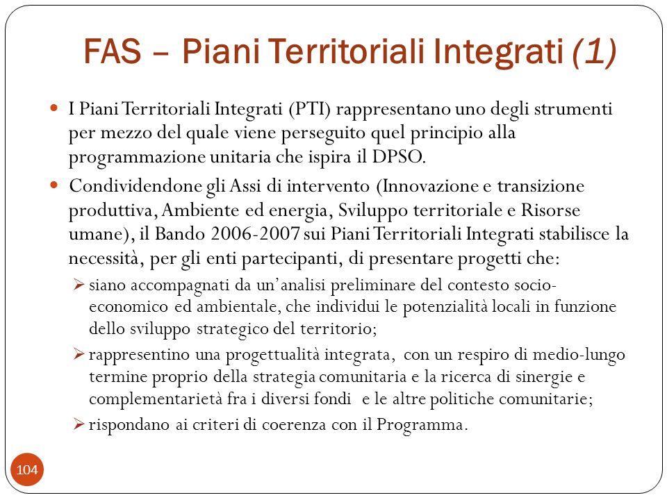 FAS – Piani Territoriali Integrati (1)