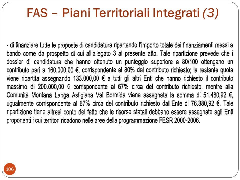 FAS – Piani Territoriali Integrati (3)