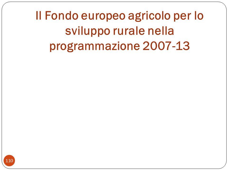 Il Fondo europeo agricolo per lo sviluppo rurale nella programmazione 2007-13