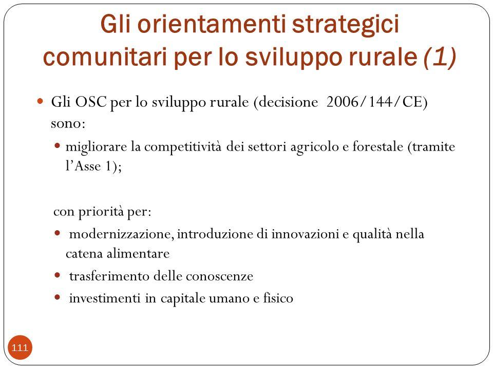 Gli orientamenti strategici comunitari per lo sviluppo rurale (1)