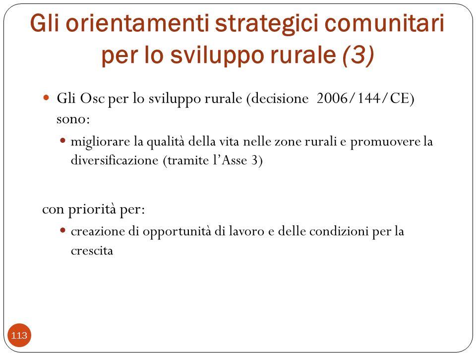 Gli orientamenti strategici comunitari per lo sviluppo rurale (3)