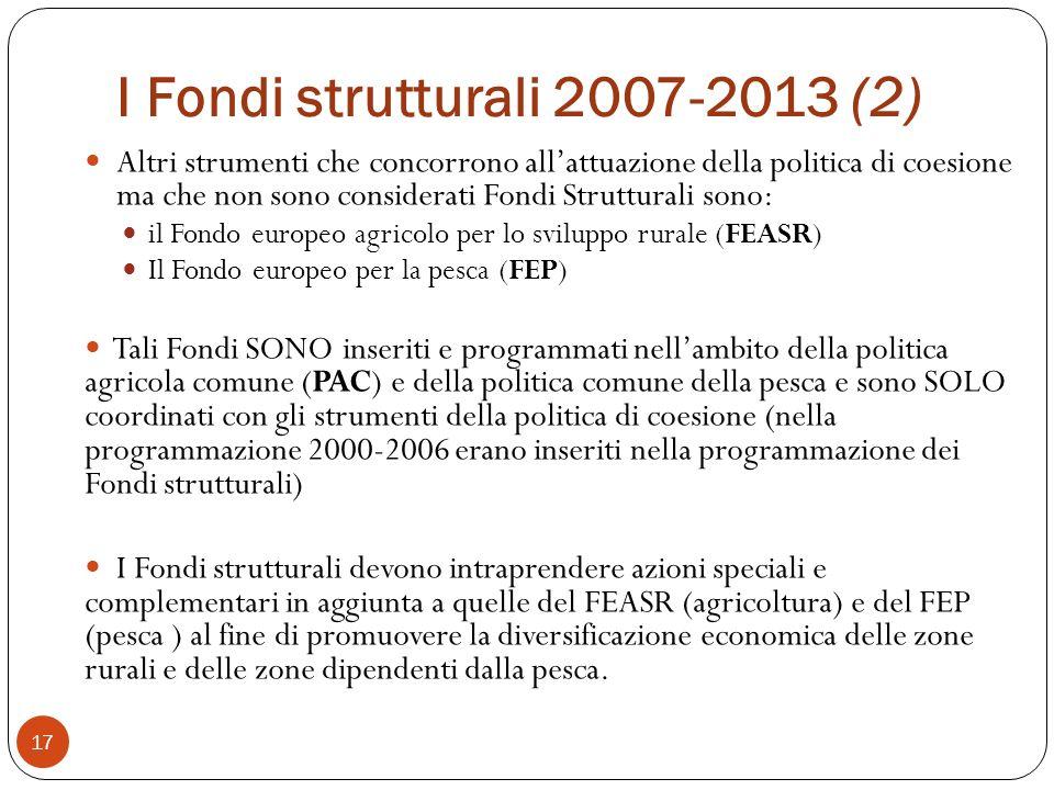 I Fondi strutturali 2007-2013 (2)