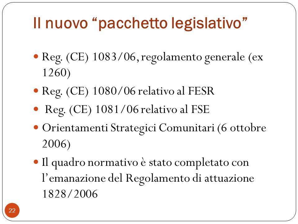 Il nuovo pacchetto legislativo