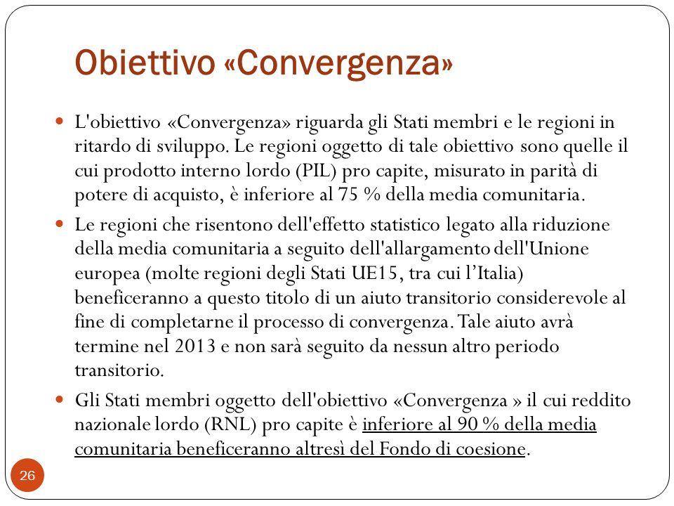 Obiettivo «Convergenza»