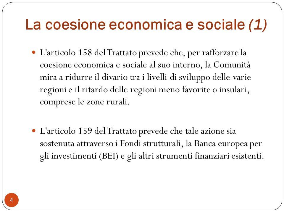 La coesione economica e sociale (1)