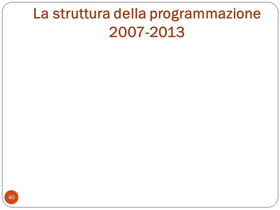 La struttura della programmazione 2007-2013