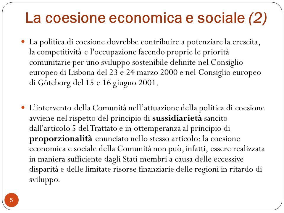 La coesione economica e sociale (2)