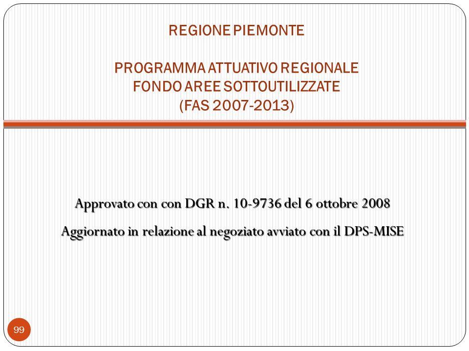 Approvato con con DGR n. 10-9736 del 6 ottobre 2008