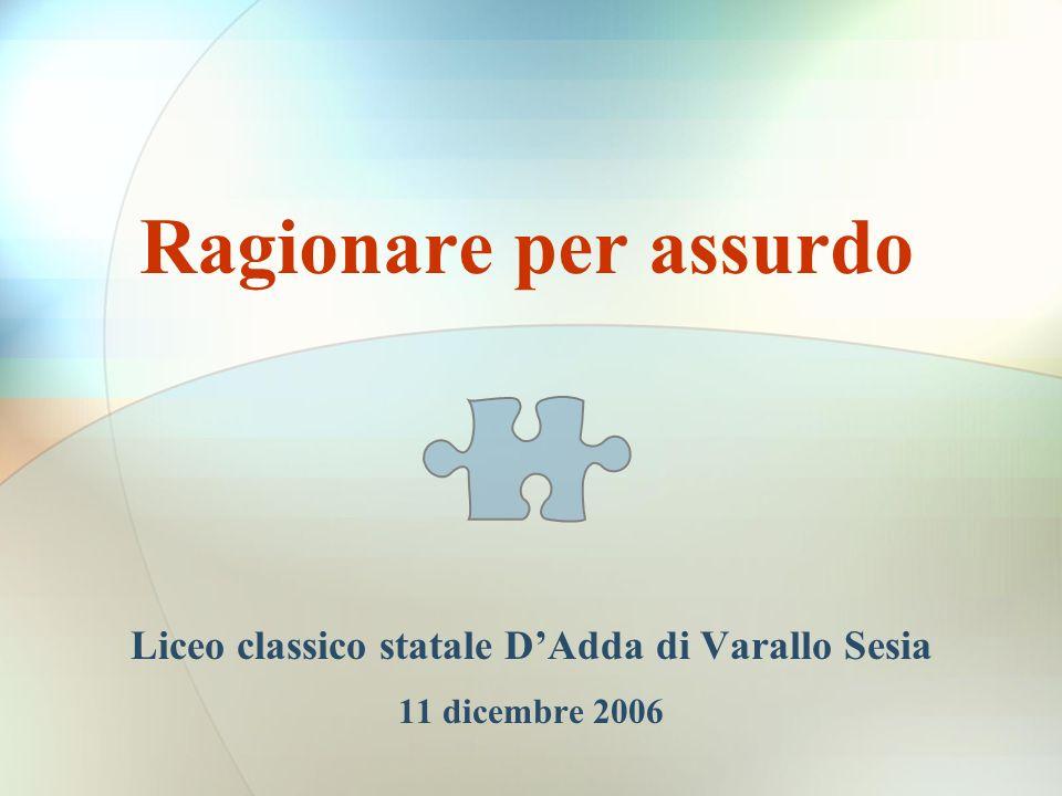 Liceo classico statale D'Adda di Varallo Sesia 11 dicembre 2006