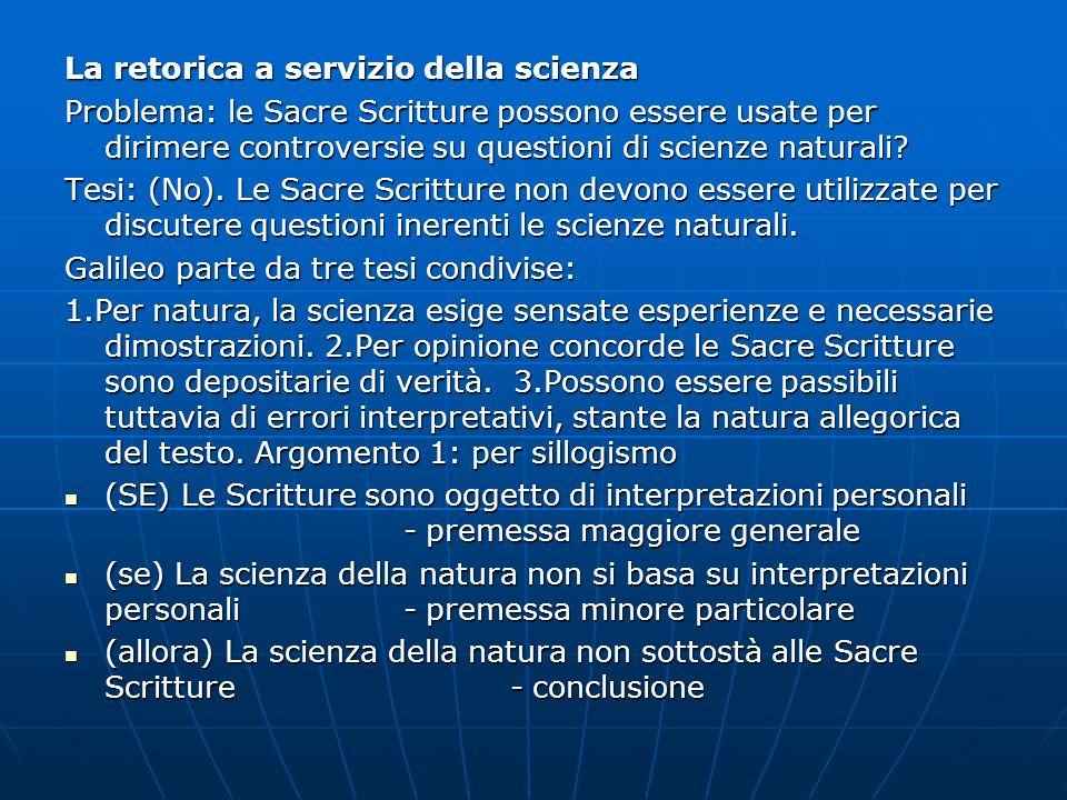 La retorica a servizio della scienza