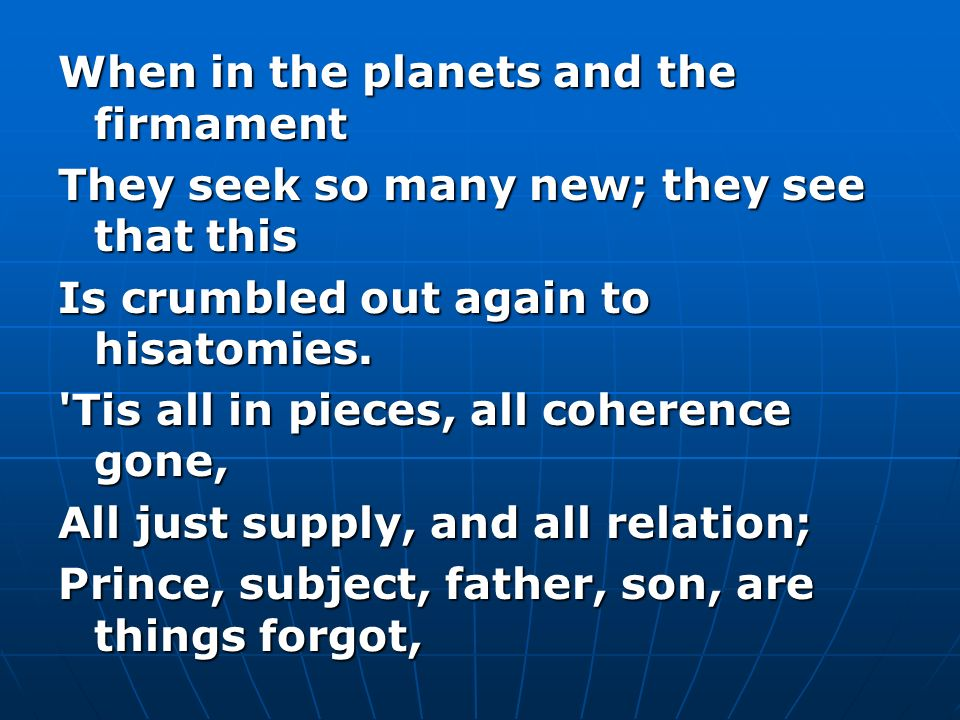 When in the planets and the firmament