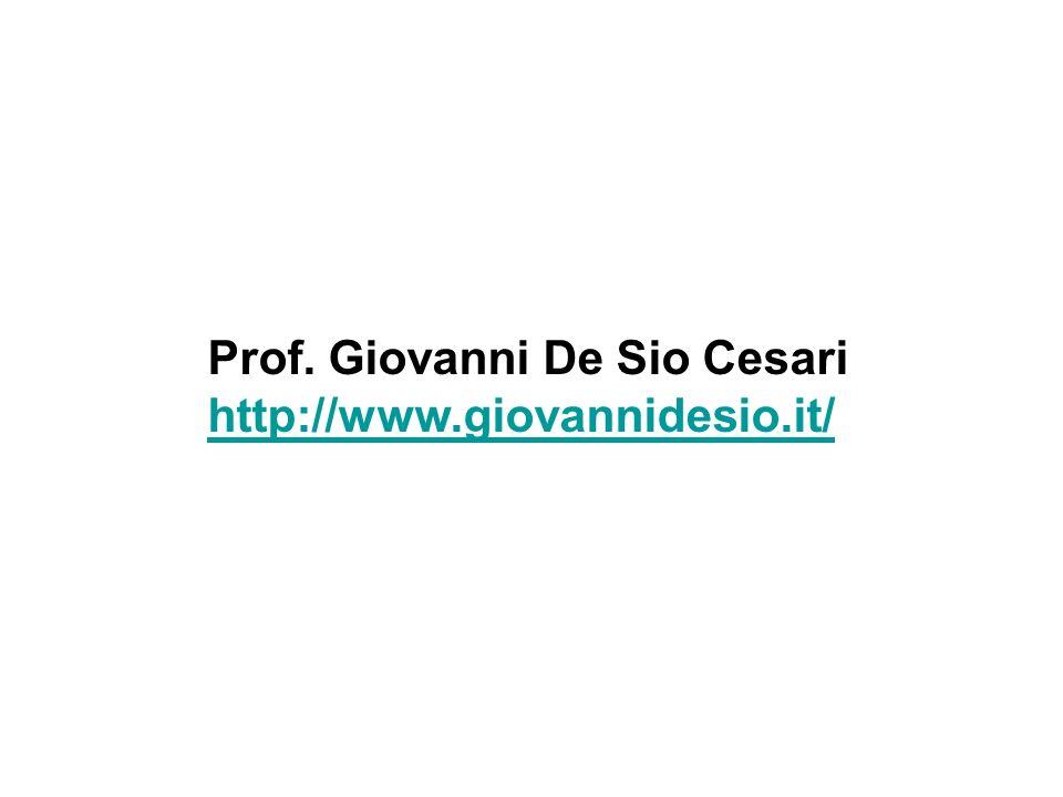 Prof. Giovanni De Sio Cesari http://www.giovannidesio.it/
