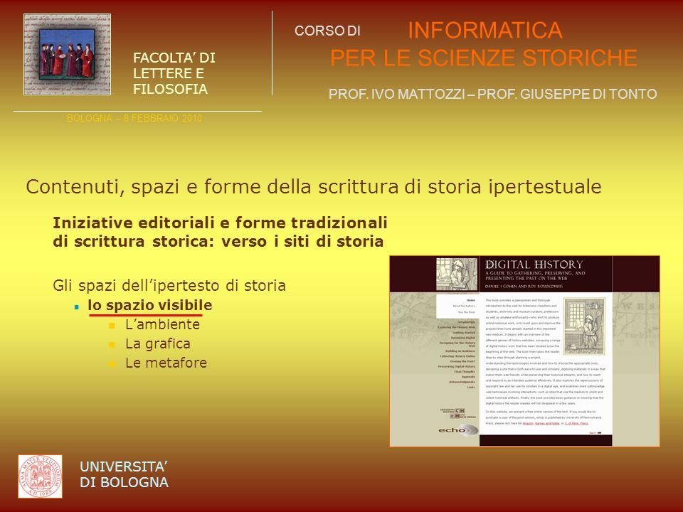 Contenuti, spazi e forme della scrittura di storia ipertestuale