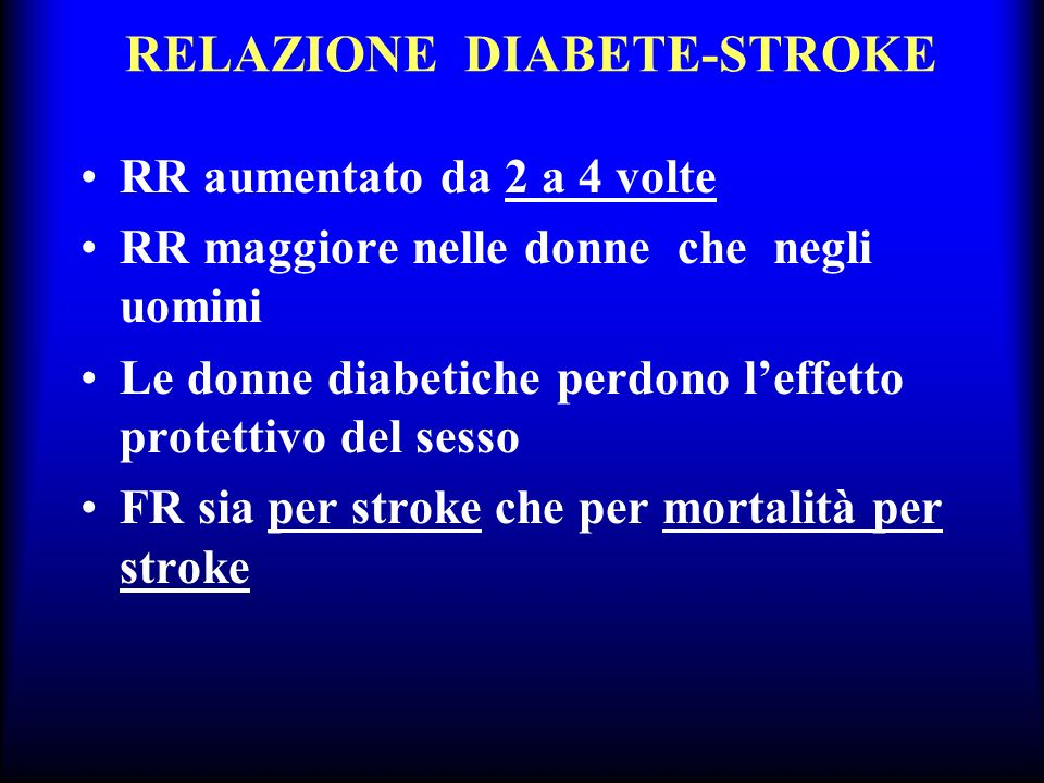 RELAZIONE DIABETE-STROKE