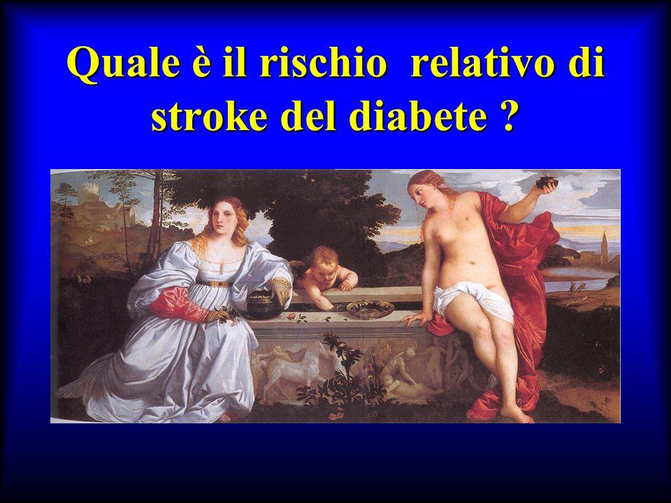 Quale è il rischio relativo di stroke del diabete