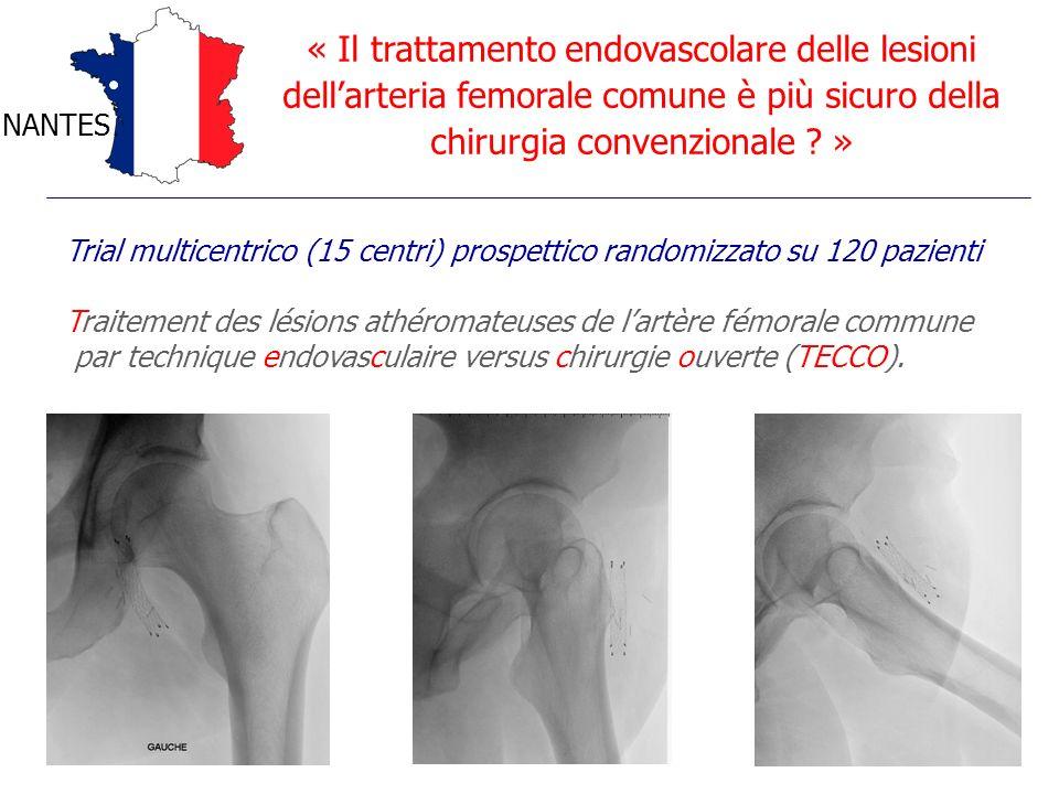 « Il trattamento endovascolare delle lesioni dell'arteria femorale comune è più sicuro della chirurgia convenzionale »