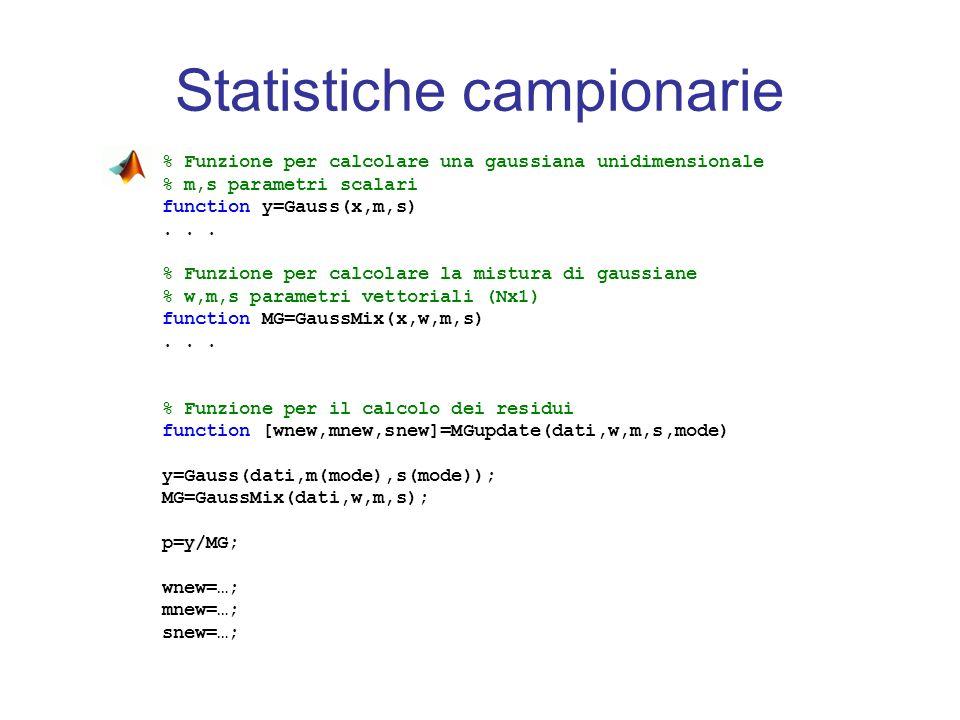 Statistiche campionarie