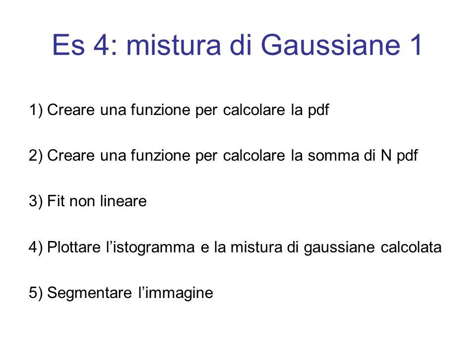 Es 4: mistura di Gaussiane 1