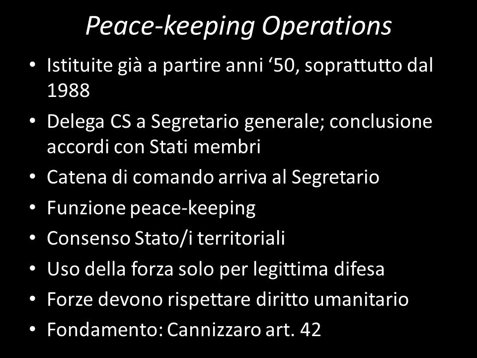 Peace-keeping Operations