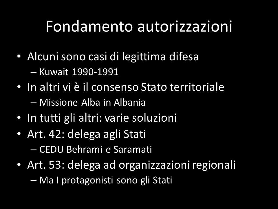 Fondamento autorizzazioni
