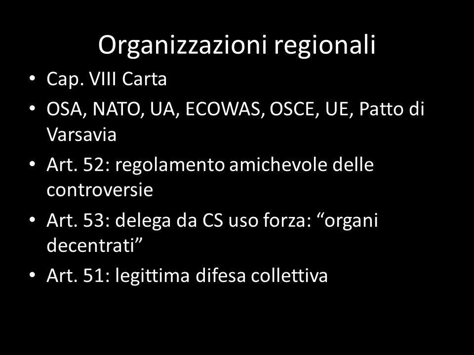 Organizzazioni regionali