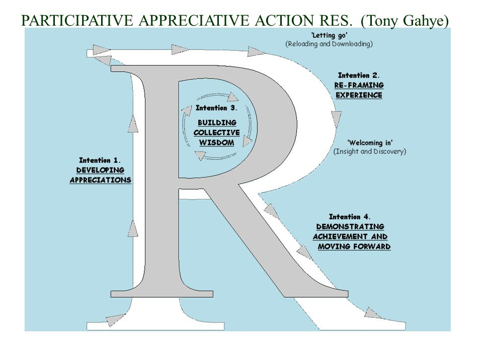 PARTICIPATIVE APPRECIATIVE ACTION RES. (Tony Gahye)