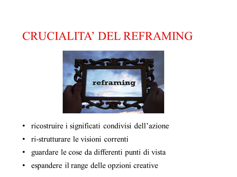 CRUCIALITA' DEL REFRAMING
