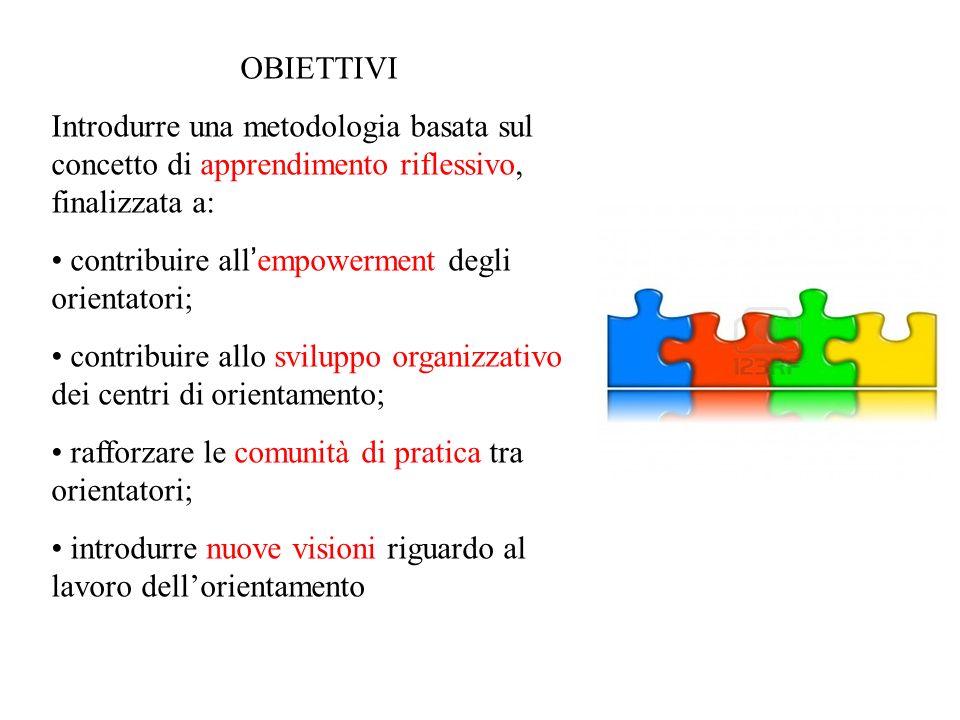 OBIETTIVI Introdurre una metodologia basata sul concetto di apprendimento riflessivo, finalizzata a: